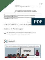 UC01G01UE2 - Comunicação escrita 2 _ FUNDAMENTOS DA COMUNICAÇÃO E INFORMÁTICA