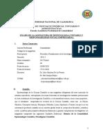 Silabo - EPISTEMOLOGIA DE LA CIENCIA CONTABLE
