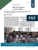 Del Saber_Pedagogía y Escuela