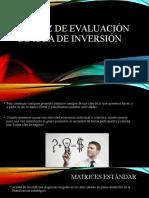 Matriz de evaluación de idea de inversión