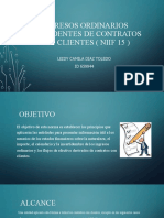 Ingresos ordinarios procedentes de contratos con clientes (
