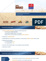 Canada Bread Company Ltd. Grupo Bimbo S.A.B. de C.V. - M&A Call