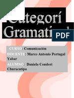 4Trabajo Encargado de categorías gramaticales-Daniela Condori-3A