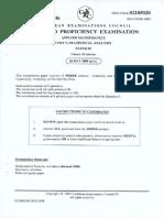 CAPE Applied Mathematics 2008 U1 P2 ROR