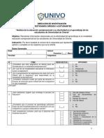 Ejemplo de cuestionario investigacion semipresencial