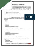 Predisposing Factors of ADRs