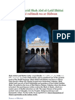 Hadrat Sayyid Shah Abd Al-Latif Bhittai | Religion And