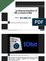 Advanced SystemCare 13 PRO di IObit-RECENSIONE LEGGI NBNBNB
