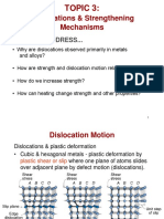 Material Sciences - 3.Topic 3 - dislocations & strengthening