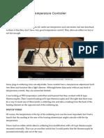 Soldering Iron PID Temperature Controller _ PCB Smoke AGREGADO DE TERMOCUPLA TIPO K A SOLDADOR DE 220V
