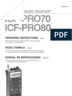 SONY ICF-PRO80 - Operating Instructions
