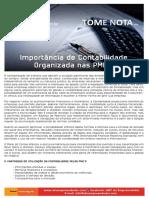 Importancia da contabilidade na PME
