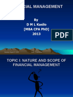 INTRO TO FINANCIAL MGT I