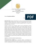 Sentencia de Amparo Contra Convocatoria Elecciones 2020