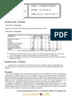 Devoir de Contrôle N°2 - Économie - 3ème Economie  Gestion (2009-2010) Mr EL KANEZ
