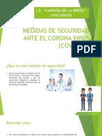 MEDIDAS DE SEGURIDAD ANTE EL CORONA VIRUS