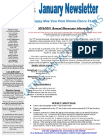 Xtreme Dance January Newsletter 2011