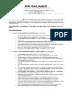 Resume - Owais Manzoor - Risk Assessment & EHSS