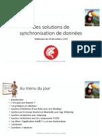 Des solutions de synchronisation de données