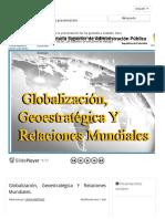 Globalización, Geoestratégica Y Relaciones Mundiales. - ppt descargar