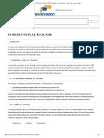 INTRODUCTION A L'ÉCOLOGIE – Sen Revision _ tous vos cours en ligne