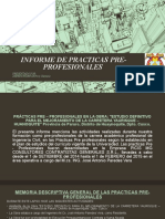 Informe de Practicas Pre- Profesionales 2018