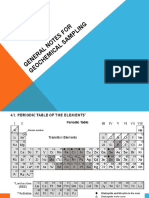 general notes for geochemical sampling