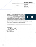 Marriage Commissioner Letter