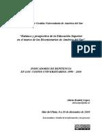 Indicadores de repitencia en los costos universitarios. 1990 - 2010