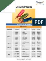 lista de precios envapack