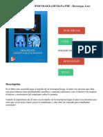 PRINCIPIOS DE NEUROPSICOLOGIA HUMANA PDF - Descargar, Leer