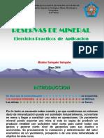 4. Reservas de Minerales-EJERCICIOS DE APLICACIÓN