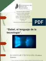 Babel, El Lenguaje de La Tecnología