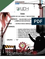 1. DISEÑO DE BOCATOMA Y CANAL