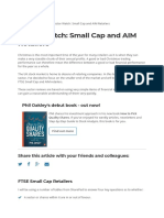 Small cap and AIM retailers