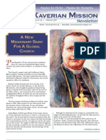 Xaverian Mission Newsletter February 2011