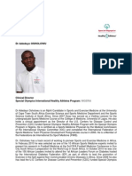 Dr Adedayo OSHOLOWU_Clinical Director_Special Olympics_NIGERIA