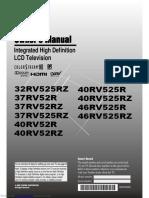 32rv525rz Toshiba TV Manual