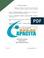 D01 POLITICA DE CALIDAD VER01