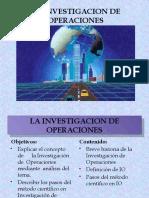 LA INVESTIGACION DE OPERACIONES Y METODO CIENTIFICO