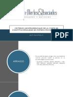 Criterios de la CC Procesal Penal