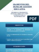 FUNDAMENTOS DEL PARADIGMA DE GESTIÓN EDUCATIVA