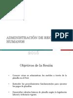 Administración Compensaciones y Beneficios Sociales