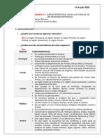 Solución Guía  Geografia 4° Características Socio-Culturales De Regiones Naturales Colombia-  JARED IRIARTE