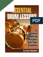 Essential Drum Lessons