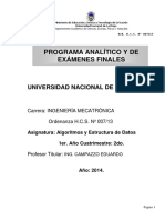 EIM_Algoritmos y Estructuras de datos_Prog.Analitico
