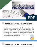MATEMATICAS FINANACIERAS I
