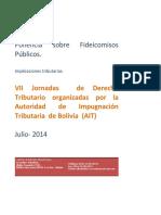 El fideicomiso público en bolivia fin