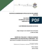 NAS FRONTEIRAS DA CIDADE OS ESPAÇOS COMUNS DA CRIANÇA NA HABITAÇÃO SOCIAL BRASILEIRA