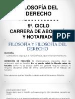 FILOSOFÍA Y FILOSOFIA DEL DERECHO